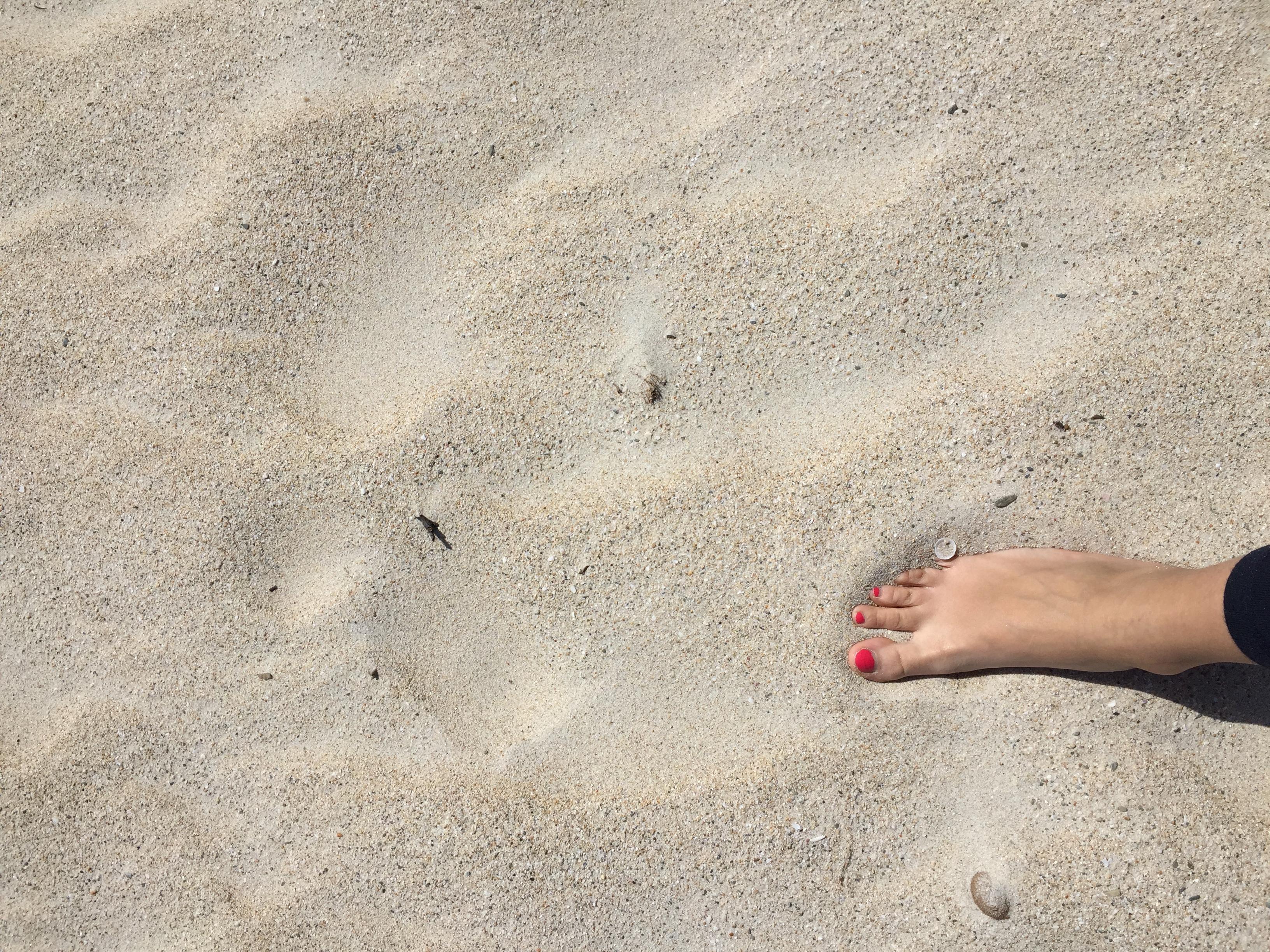 sabbia morbida e bianca